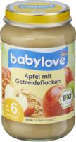 Apfel mit Getreideflocken ab dem 6. Monat