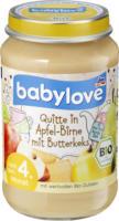 babylove Frucht & Getreide Quitte in Apfel-Birne mit Butterkeks nach dem 4. Monat