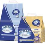 Catsan Hygiene Streu 20 Liter oder Ultra Klumpstreu 10 Liter, jede Tragepackung