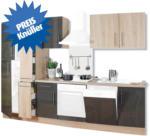 ROLLER Küchenblock, Küchenzeile Jana - Sonoma Eiche-Lava Hochglanz - 310 cm