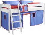 ROLLER 3-teiliges Stoffset - blau-rot - für Halbhochbett und Etagenbett