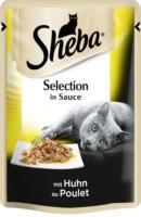 Sheba Nassfutter für Katzen, Cuisine Portionsbeutel mit Huhn in Sauce
