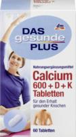 DAS gesunde PLUS Calcium 600 + D + K Tabletten