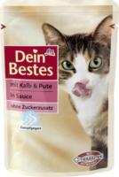 Dein Bestes Nassfutter für Katzen mit Kalb & Pute, in Sauce