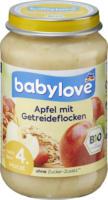 babylove Frucht & Getreide Apfel mit Getreideflocken nach dem 4.Monat