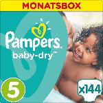 Pampers Windeln Baby-Dry Größe 5 Junior, 11-23 kg,  MonatsBox