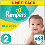 Pampers Windeln premium protection New Baby, Größe 2 Mini, 3-6 kg, Jumbo Pack