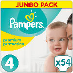 Pampers Windeln premium protection, Größe 4 Maxi, 8-16 kg, Jumbo Pack