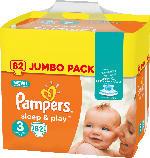 Pampers Windeln Sleep & Play, Größe 3 Midi, 5-9kg, Jumbo Pack