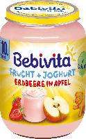 Bebivita Frucht & Joghurt Erdbeere in Apfel ab 10. Monat