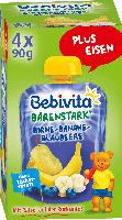 Bebivita Quetschbeutel Bärenstark Birne-Banane-Blaubeere  ab 1 Jahr, 4x90g