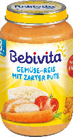 Bebivita Menü Gemüse-Reis mit zarter Pute ab 8. Monat