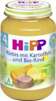 Hipp Babymenü Kürbis mit Kartoffeln und Bio-Rind nach dem 4. Monat