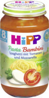Hipp Menü Pasta Bambini Spaghetti mit Tomaten und Mozarella ab 8. Monat