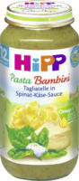 Hipp Kindermenü Pasta Bambini Tagliatelle in Spinat-Käse-Sauce ab 12. Monat