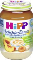 Hipp Früchte-Duett Pfirsich-Aprikose mit Quarkcreme ab 10. Monat