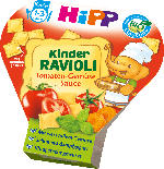 Hipp Kinderteller Kinder Ravioli Tomaten-Gemüse Sauce ab 1 Jahr