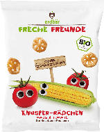 erdbär Freche Freunde Snack Knusper-Rädchen Mais & Tomate ab 1 Jahr