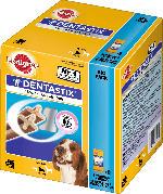 Pedigree Snack für Hunde, Zahnpflege DentaStix, für mittelgroße Hunde, Multipack 8x7 Stück