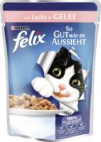 Felix Nassfutter für Katzen, So gut wie es aussieht, Lachs in Gelee