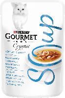 GOURMET Nassfutter für Katzen mit Thunfisch & Shrimps