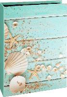 Paradies Memo-Fotoalbum gebunden 200 Bilder, 10x15 cm, Muscheldesign