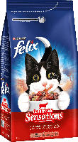 Trockenfutter für Katzen, Felix Meaty Sensations mit Rind