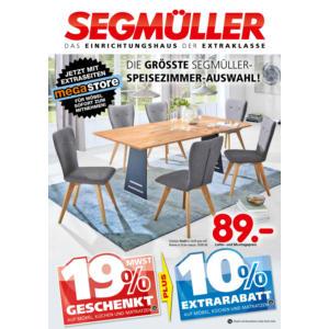 Die größte Segmüller-Speisezimmer-Auswahl! Prospekt Parsdorf