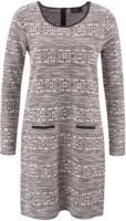 Damen-Jacquard-Kleid
