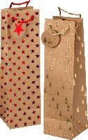 Profissimo Flaschentüte Weihnachten Tannenbäume oder Sterne