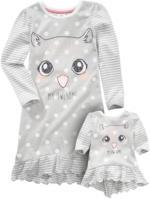 Mädchen-Nachthemd mit Puppenshirt