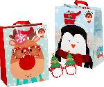 Profissimo Geschenktüte Weihnachten Elch oder Pinguin mit abnehmbarer Brille