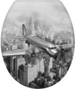 Wenko WC-Sitz Old-Time Plane, Easy Close Duroplast