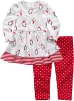 Baby-Kleid und Sweatleggings