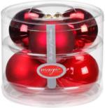 Weihnachtskugeln  Ruby Red-Mix, 6er Box, 80 mm