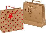 Profissimo Geschenktüte Weihnachten mini quadratisch Tannenbäume oder Sterne