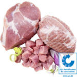 Frischer Schweinebraten, Schweinerollbraten oder Schweinegulasch aus der Schweineschulter, je 1 kg