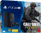 PlayStation 4 Konsolen - SONY PlayStation 4 Pro 1TB Schwarz + Call of Duty WWII + That's You Voucher