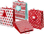 Profissimo Geschenktüte Weihnachten midi rot/weiß