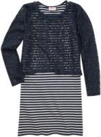 Mädchen-Kleid und Spitzenshirt