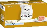 GOURMET Nassfutter für Katzen, Gold Feine Pastete mit Thunfisch, Multipack 4x85g