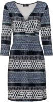 Damen Jerseykleid mit Allovermuster