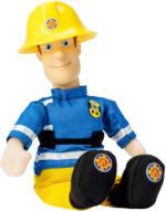 Feuerwehrmann Sam Plüschfigur mit Vinylkopf