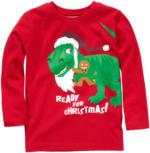 Jungen Langarmshirt mit Weihnachts-Dino