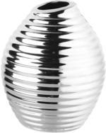 Vase in silberner Optik