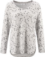 Damen Langarmshirt mit Sternen