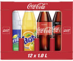 Coca-Cola*, Fanta oder Sprite (*koffeinhaltig), versch. Sorten, 12 x 1 Liter, jeder Kasten