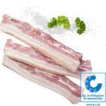 Frischer Schweinebauch mit Knochen, in Scheiben,   je 1 kg