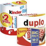 Duplo, Kinderriegel 18er + 2 gratis oder Kinder Schoko Bons 300 g + 50 g gratis jede 364/420/350-g-Packung